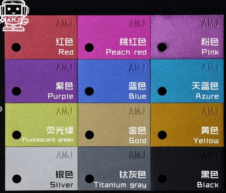 AMJ40 Aluminum Case Colors