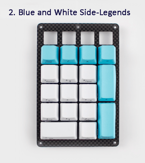 Blue and White Keycaps