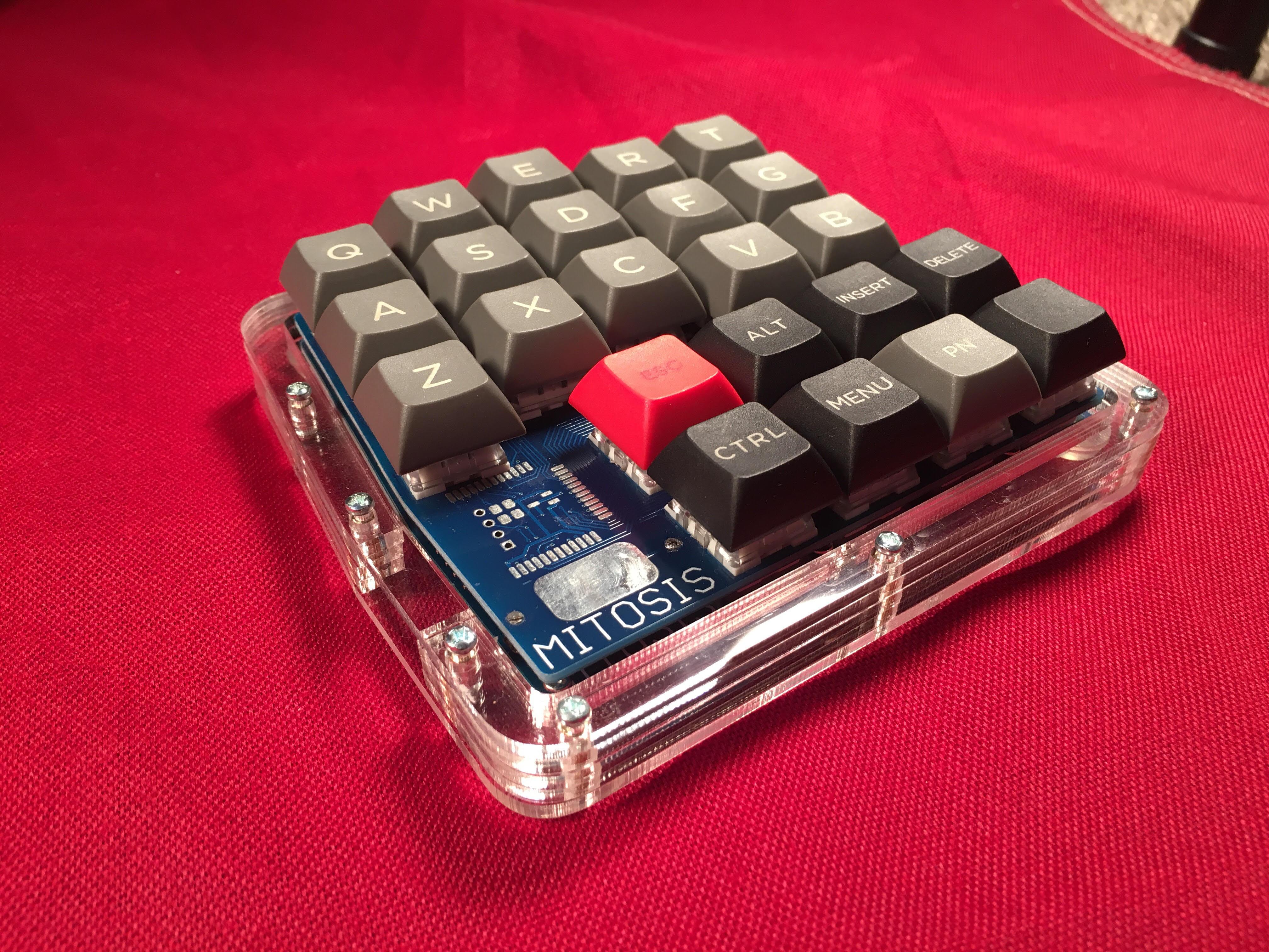 Mitosis Wireless Split Ergonomic Keyboard w/ Acrylic Case