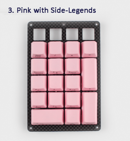 Pink Side Legend Keycaps
