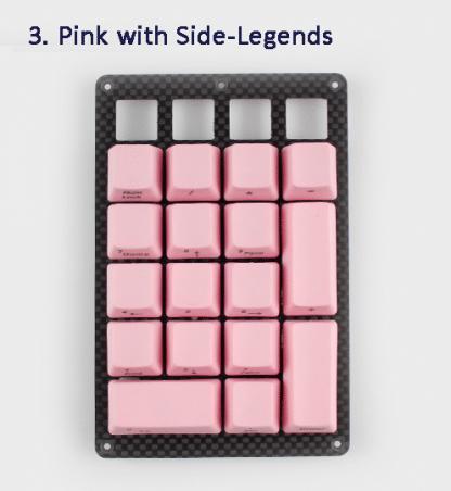 Pink Side Legend Keycaps