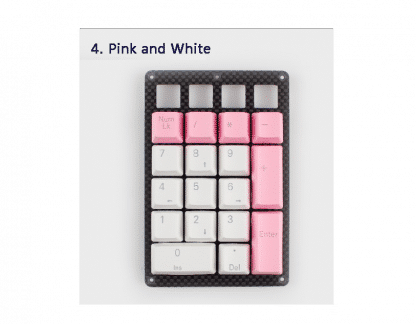 Pink and White Keycaps