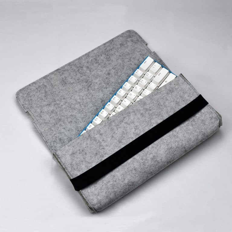 Gray Carrying Pouch with keyboard
