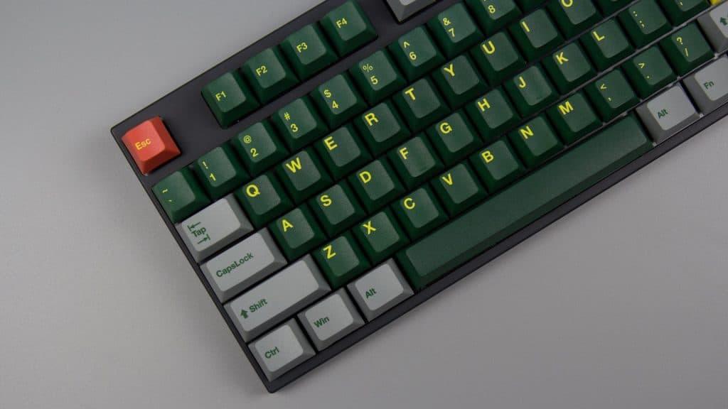 Green train Cherry Profile PBT Keycaps (167 keys)