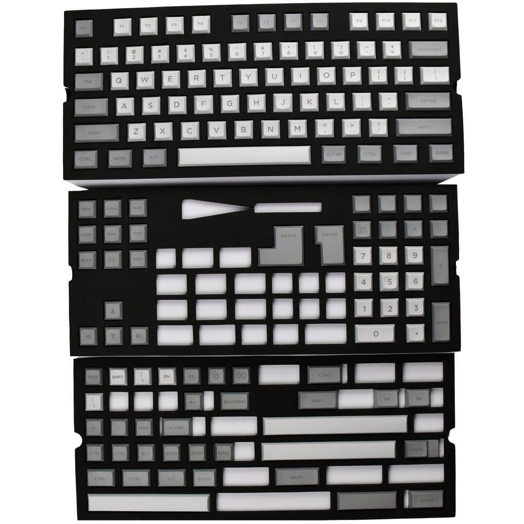 DSA Keycaps Light Gray/Dark Gray 140 Keys