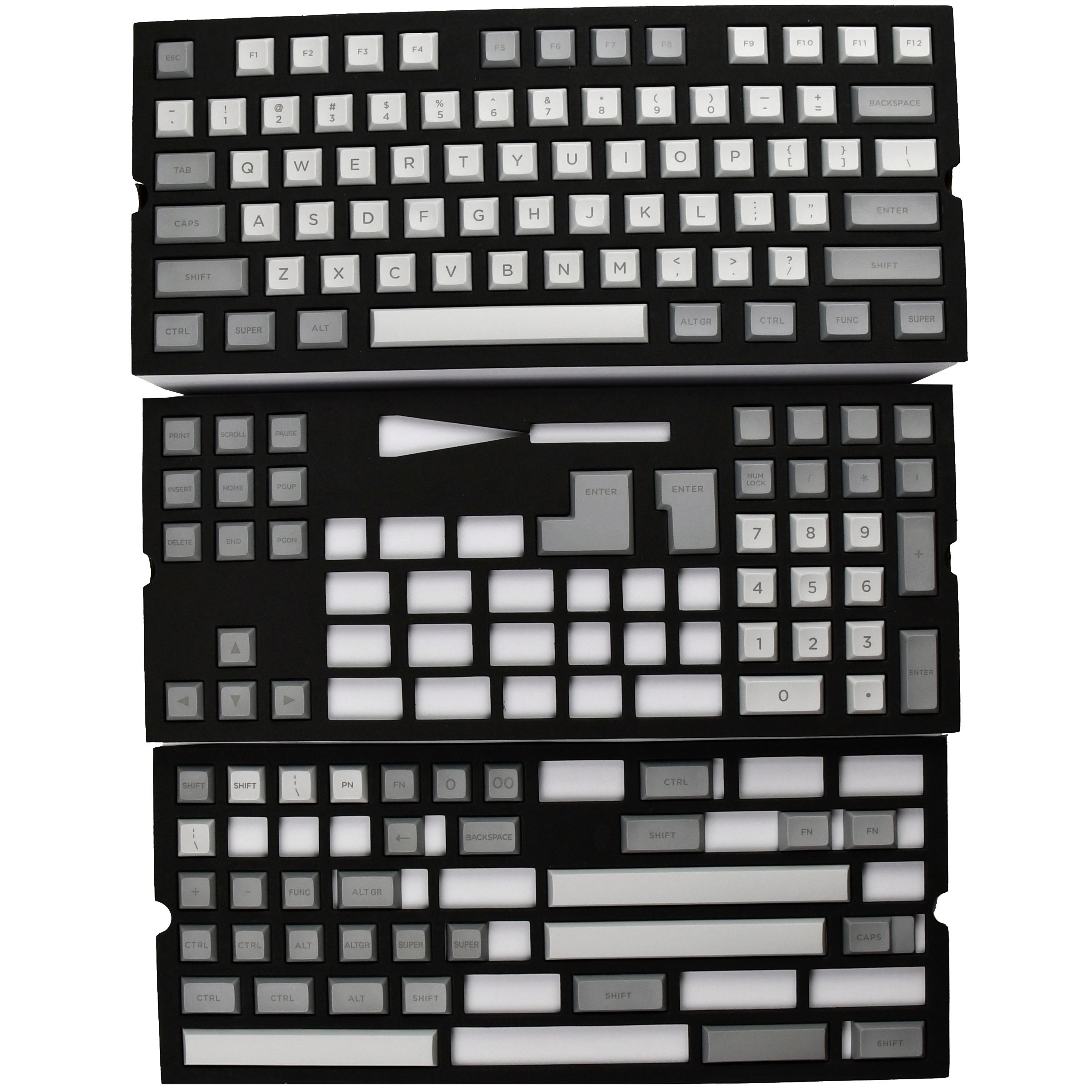 DSA Gray Keycaps 140 keys