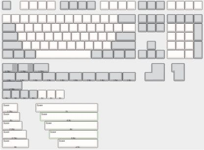 XDA Blank Keycap Sizes