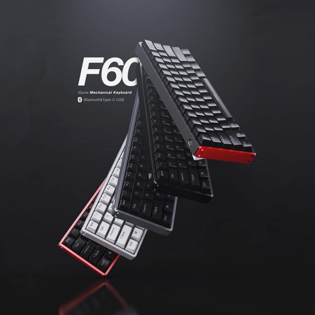 IQunix F60 Bluetooth 60% Keyboard USB-C w/ Cherry MX Switches