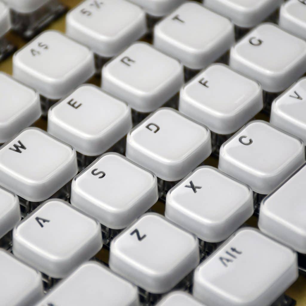 Acrylic Chiclet Style Keycaps