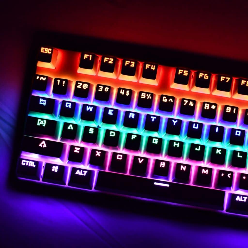 OEM Black Shinethrough Keycaps