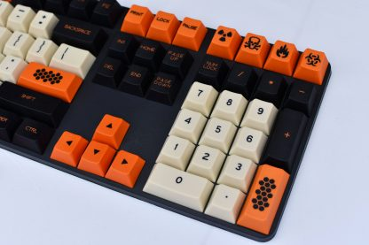 Carbon Cherry Profile Dyesub PBT Close