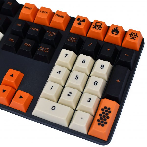 Carbon Cherry Profile Dyesub PBT Main White