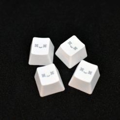 Translucent Smiley PBT Keycap White