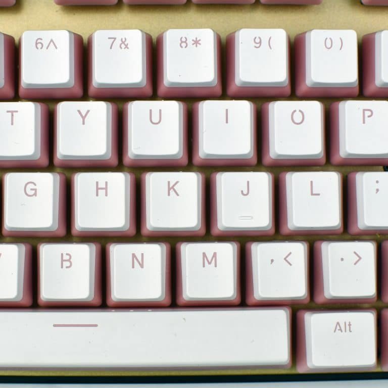 Pudding Keycaps Pink