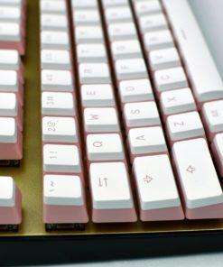 Pudding Keycaps Pink Profile