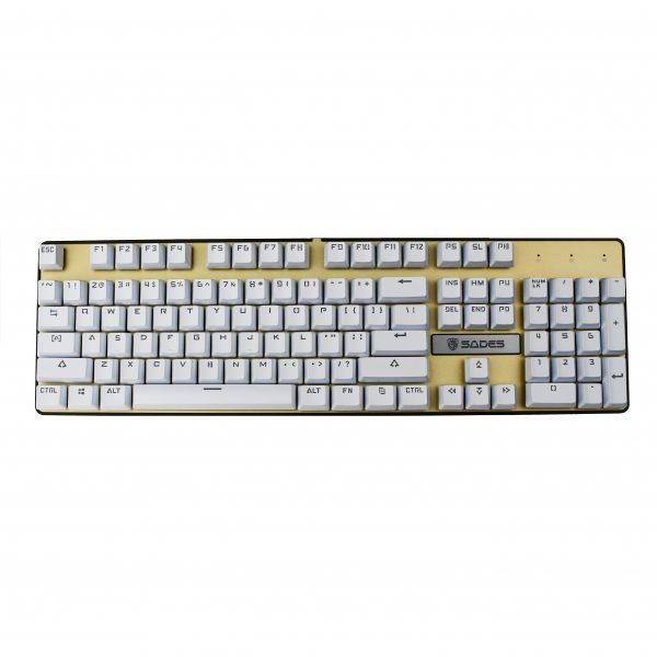 White OEM Shinethrough Keycaps 2