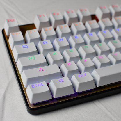 White OEM Shinethrough Keycaps