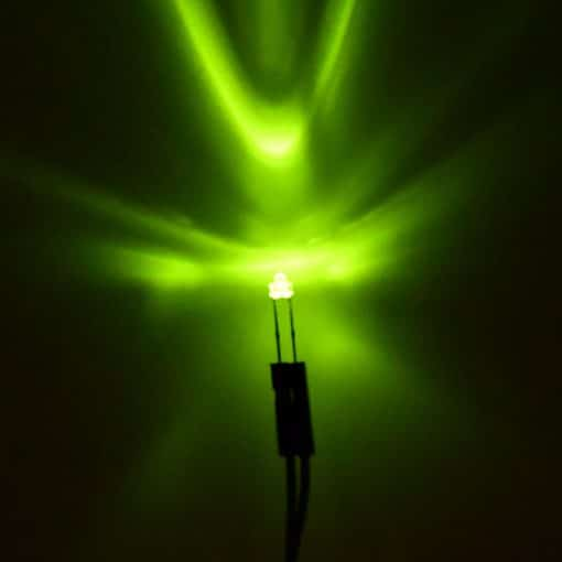 1.8mm Fluorescent Green LED