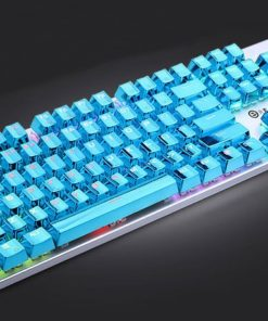 Blue Electroplated Keycaps