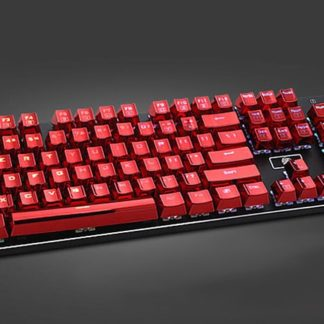 Metallic Red Electroplated Keycaps Full