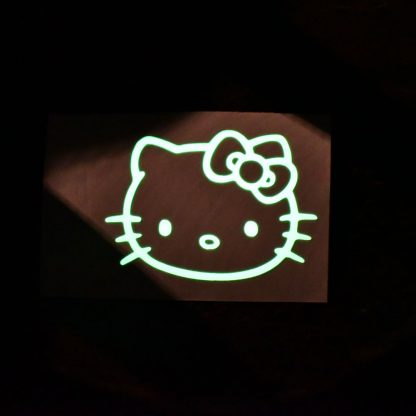 Hello Kitty Glow Decal Dark