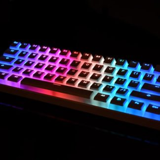 Vanilla Pudding Keycaps White LEDs