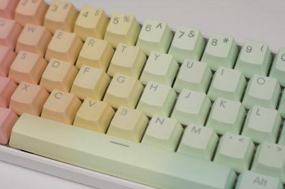 OEM Rainbow Gradient Keycaps Closeup