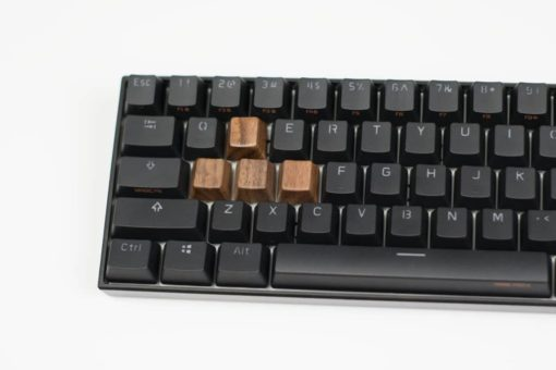 Wooden WASD Keycaps Front