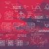 Red Geometric Deskmat