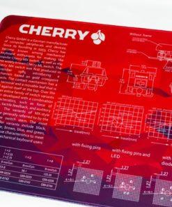Red Geometric Deskmat Left