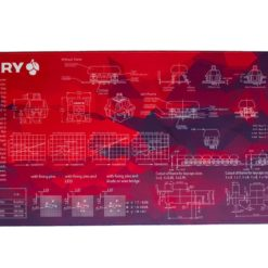 Red Geometric Deskmat Main
