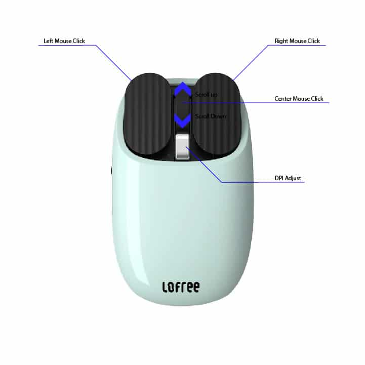 Normal Lofree Bduck Wireless Mouse Buttons