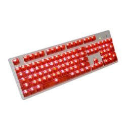 OEM Red Translucent Keycaps LEDs