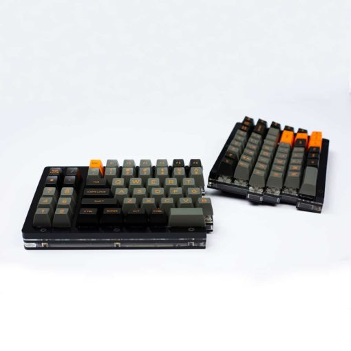 Domikey Doubleshot Orange Dolch SA Profile Keycaps Split