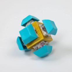 Gold Fidget Cube Teal Keycaps