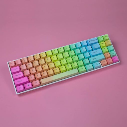 OEM Rainbow Slide Keycaps