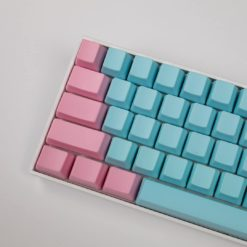 OEM Cotton Candy Blank Keycaps Close
