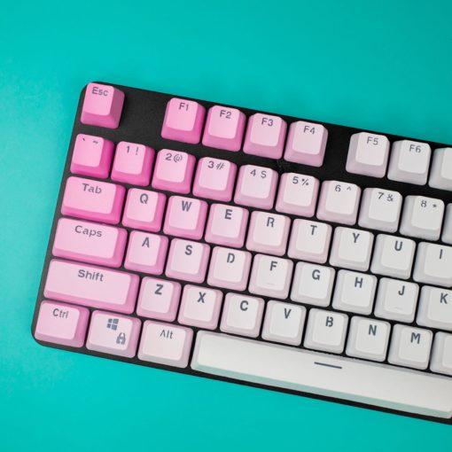 OEM Pink Gradient PBT Keycaps Main