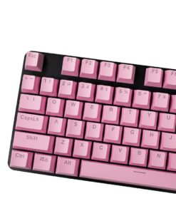 OEM Pink Mixable Keycaps 104 Keycap Set Main