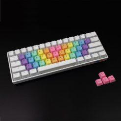 Rainbow Wave Alpha Keycaps Bright Top Legends Main