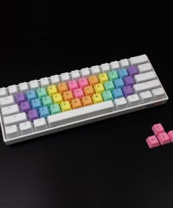 Rainbow Wave Alpha Keycaps Bright Top Legends Main
