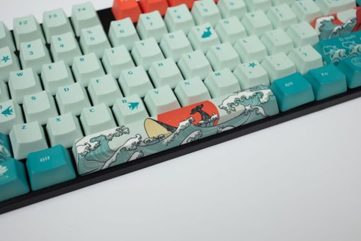 OEM Coral Sea Dye Sublimated Keycaps Space Bar close