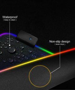 RGB LED Deskmat rubber non-slip