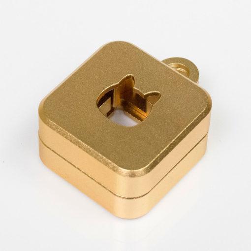 Kelowna 2 piece Switch Opener Square Gold