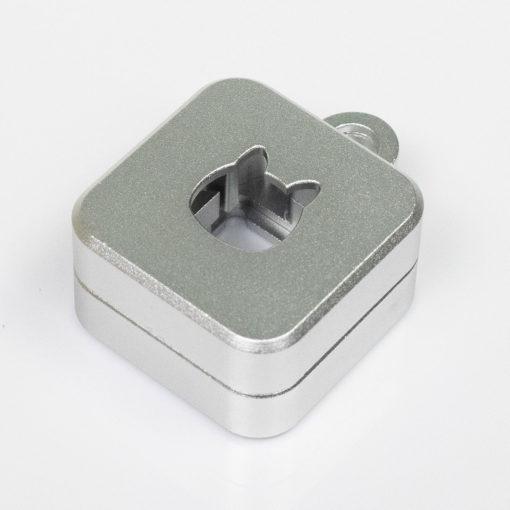 Kelowna 2 piece Switch Opener Square Silver