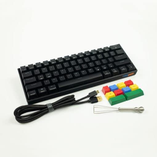 Flashquark Horizon Z 60 percent mechanical keyboard black full