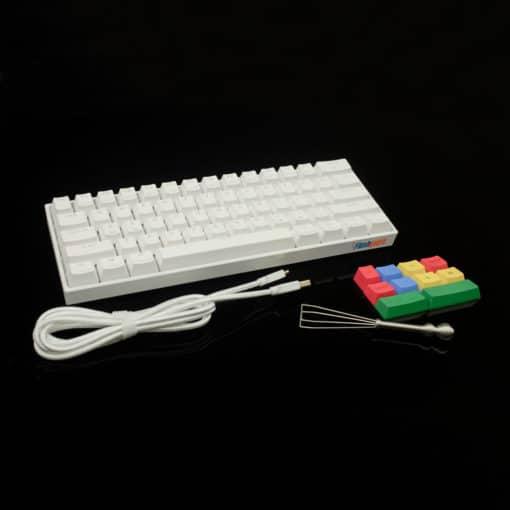 Flashquark Horizon Z 60 percent mechanical keyboard white full
